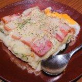 ステーキハウス青ひげの焼きポテトサラダ