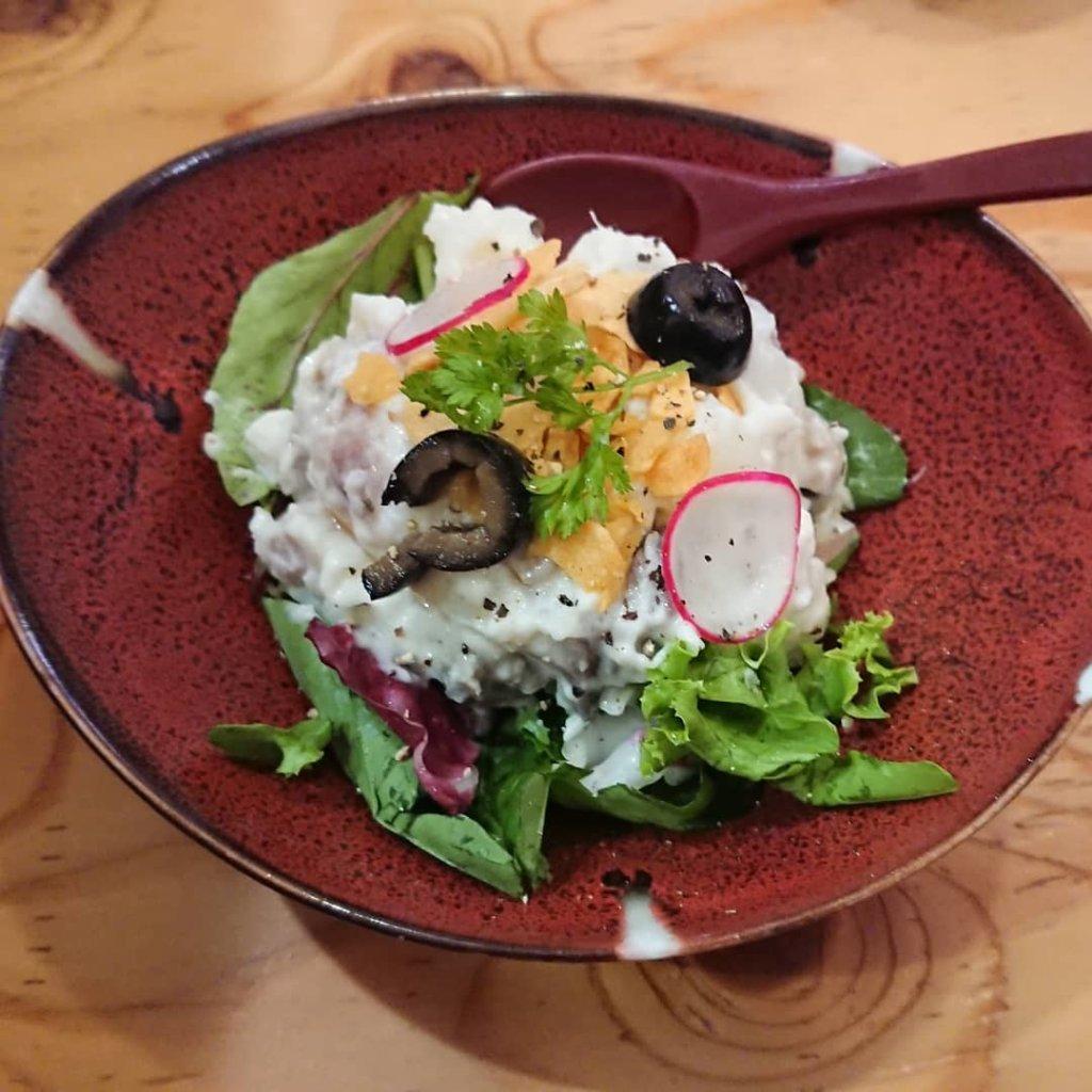 とろさば料理専門店 SABAR+ 広島国際通り店 のポテサラ
